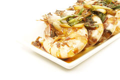 Asian Soy Sauce Cooked Prawns royalty free stock photography