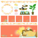 Asian spa items banners Stock Photo