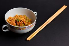 Asian Speciality and Chopsticks! royalty free stock image