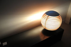 Asian spherical accent light in modern setting Royalty Free Stock Images