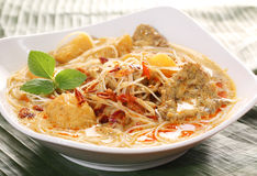 Asian spicy Coconut Curry Noodle Royalty Free Stock Images