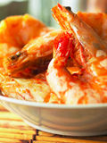 Asian spicy prawns Royalty Free Stock Photos