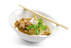 Asian Spicy Soup Noodles Stock Photos