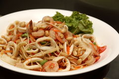 Asian spicy squid salad Stock Images