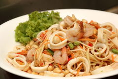 Asian spicy squid salad Royalty Free Stock Photos