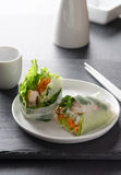 Asian spring roll Stock Photo