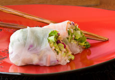 Asian spring rolls Royalty Free Stock Images