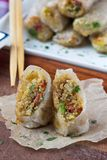 Asian spring rolls stuffed with quinoa, vegetables, crisp Royalty Free Stock Image