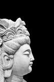Asian Statue. Isolated on Black Background Royalty Free Stock Photos