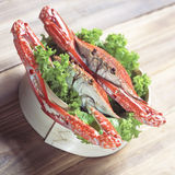 Asian steamed crabs Royalty Free Stock Images