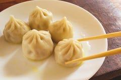 Asian steamed dumplings royalty free stock image