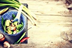 Asian stir-fried vegetables. Food background Royalty Free Stock Image