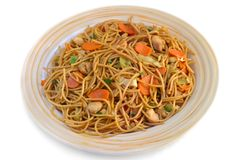 Asian stir-fry noodles Royalty Free Stock Photography