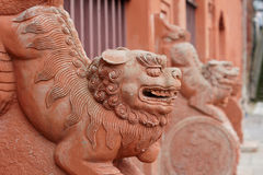 Asian stone lions Stock Image