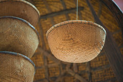 Asian Straw Baskets Stock Images