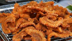 Asian street food . BBQ , Grill Fast Food in asian countries stock video