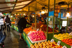Asian street  fruit stand Royalty Free Stock Image