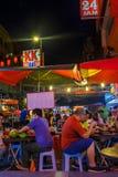 Asian street life at night stock images