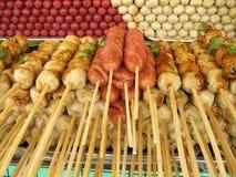 Asian street market snacks Stock Photo