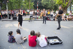 Free Asian Street Musician Performing With Their Instruments Royalty Free Stock Photo - 78511895