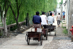 Asian street scene Royalty Free Stock Image