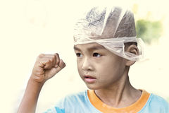 Asian strong children Royalty Free Stock Images