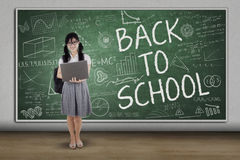 Asian student back to school in class Royalty Free Stock Photography
