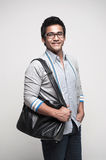 Asian Student with bag Royalty Free Stock Image