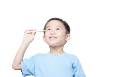 Asian student boy has idea Royalty Free Stock Images