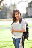 Asian student on campus Royalty Free Stock Image