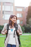 Asian student on campus Stock Images