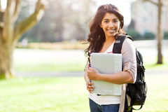 Asian student on campus Royalty Free Stock Photography