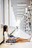 Asian student on campus royalty free stock photo