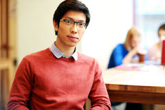 Asian student in classroom Royalty Free Stock Photos