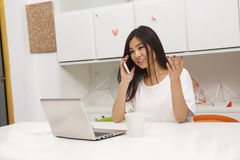 Asian student communicating stock images