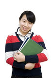 Asian student girl Royalty Free Stock Images