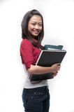 Asian Student holding books 2 Stock Photography