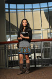 Asian Student Holding Books Royalty Free Stock Image