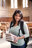 Asian student in library Stock Photo