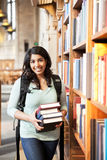 Asian student at the library Stock Photography
