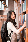 Asian student in library Royalty Free Stock Photography