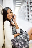 Asian student on the phone Stock Photos