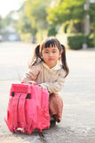 Asian student playing after back to home with happiness emotion Royalty Free Stock Photography