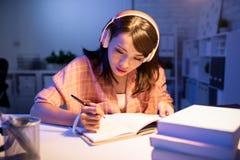 Asian student study hard royalty free stock image