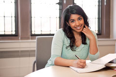 Asian student studying Royalty Free Stock Images