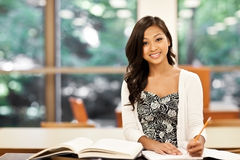 Asian student studying Stock Photography