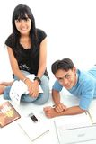 Asian students royalty free stock photography