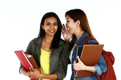 Asian students sharing a secret Stock Image
