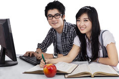 Asian Students Studying Stock Photo