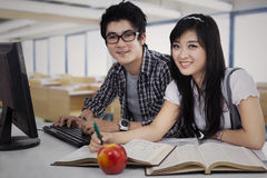 Asian Students Studying Stock Photography